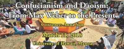 Confucianism and Daoism: From Max Weber to the Present 2018